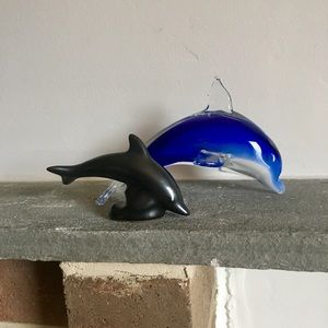 Set of two dolphins